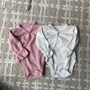 L'oved Baby long sleeve kimono bodysuit bundle